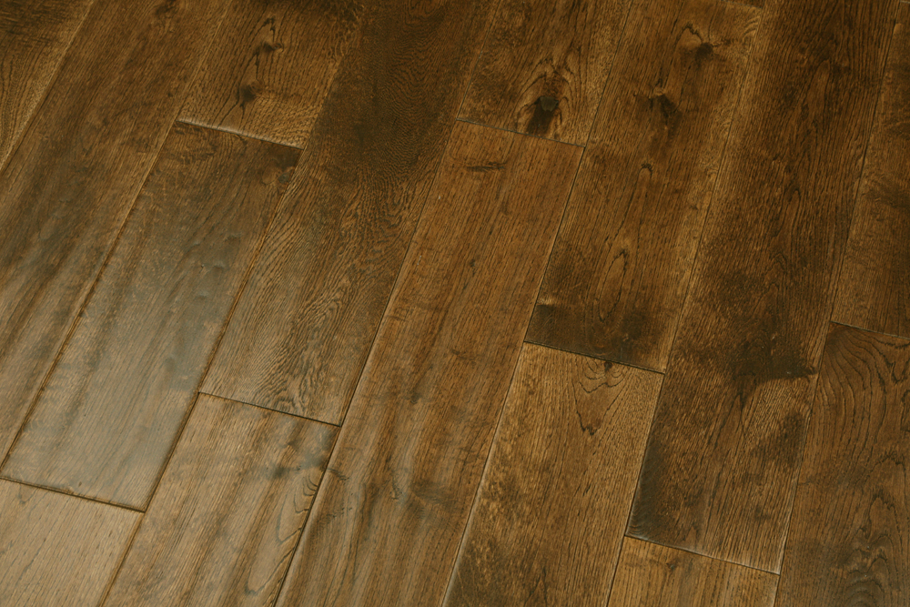 125mm Golden Oak Handscraped Eng Floors Real Wood