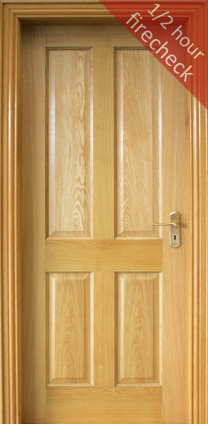 4 Panel Fire Check (44mm) | Internal Doors | Firecheck Doors