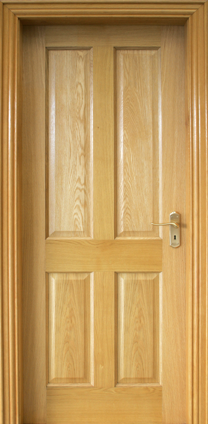 4 panel white oak door 40mm internal doors oak doors for Interior panel doors