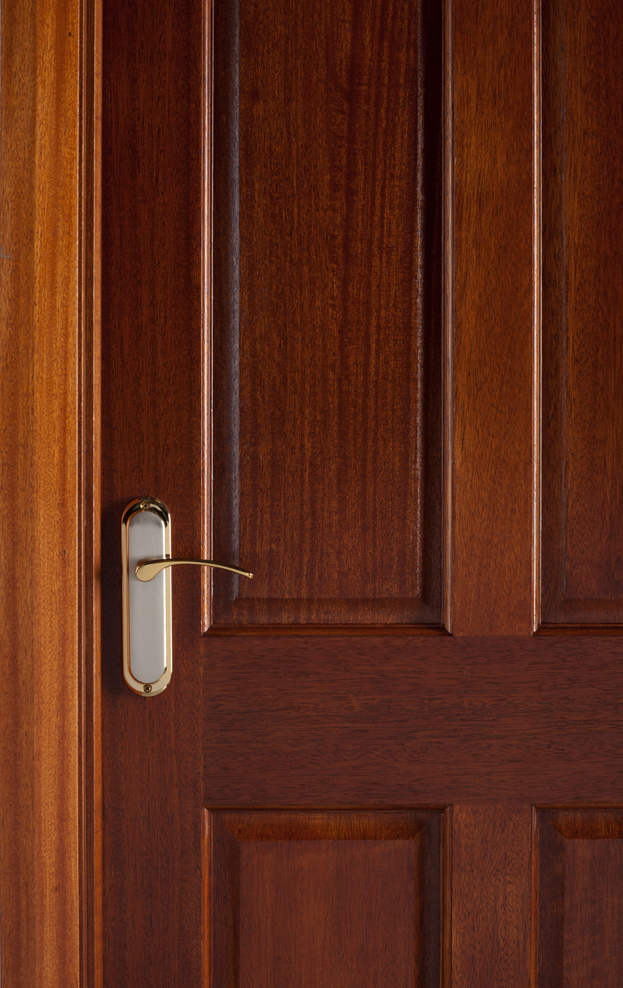 4 Panel Mahogany Door 40mm Internal Doors Mahogany Doors