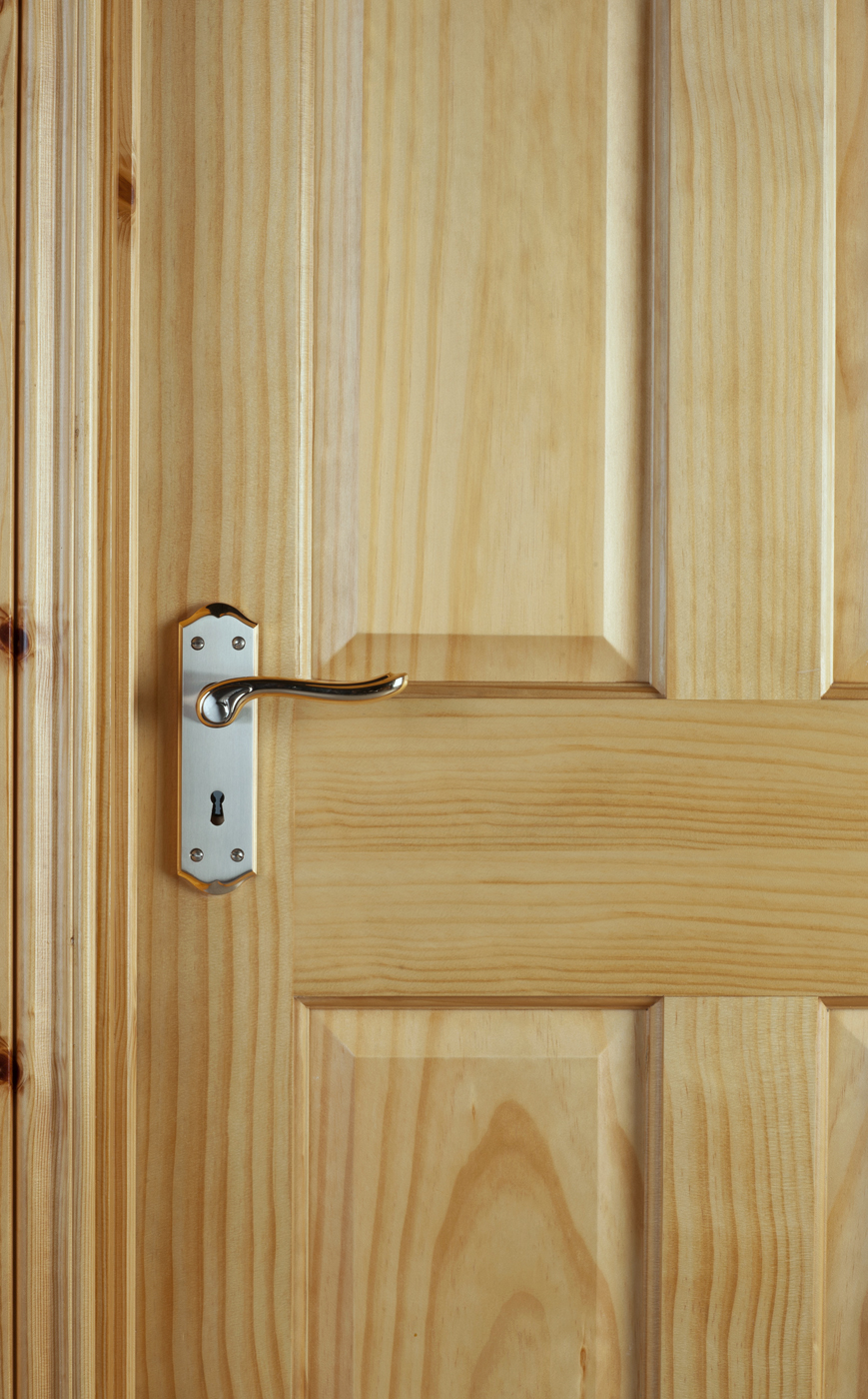 4 Panel Radiata Pine Door 40mm Internal Doors Pine Doors