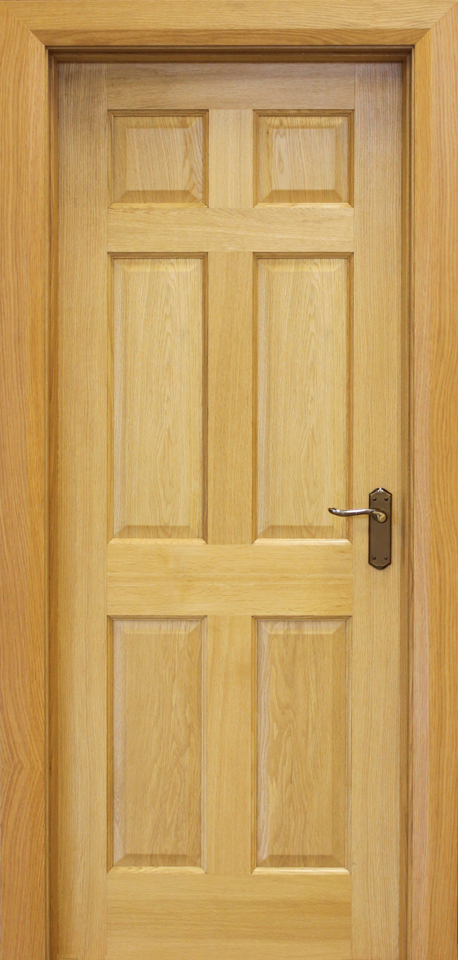 6 panel white oak door 40mm internal doors oak doors for Interior panel doors