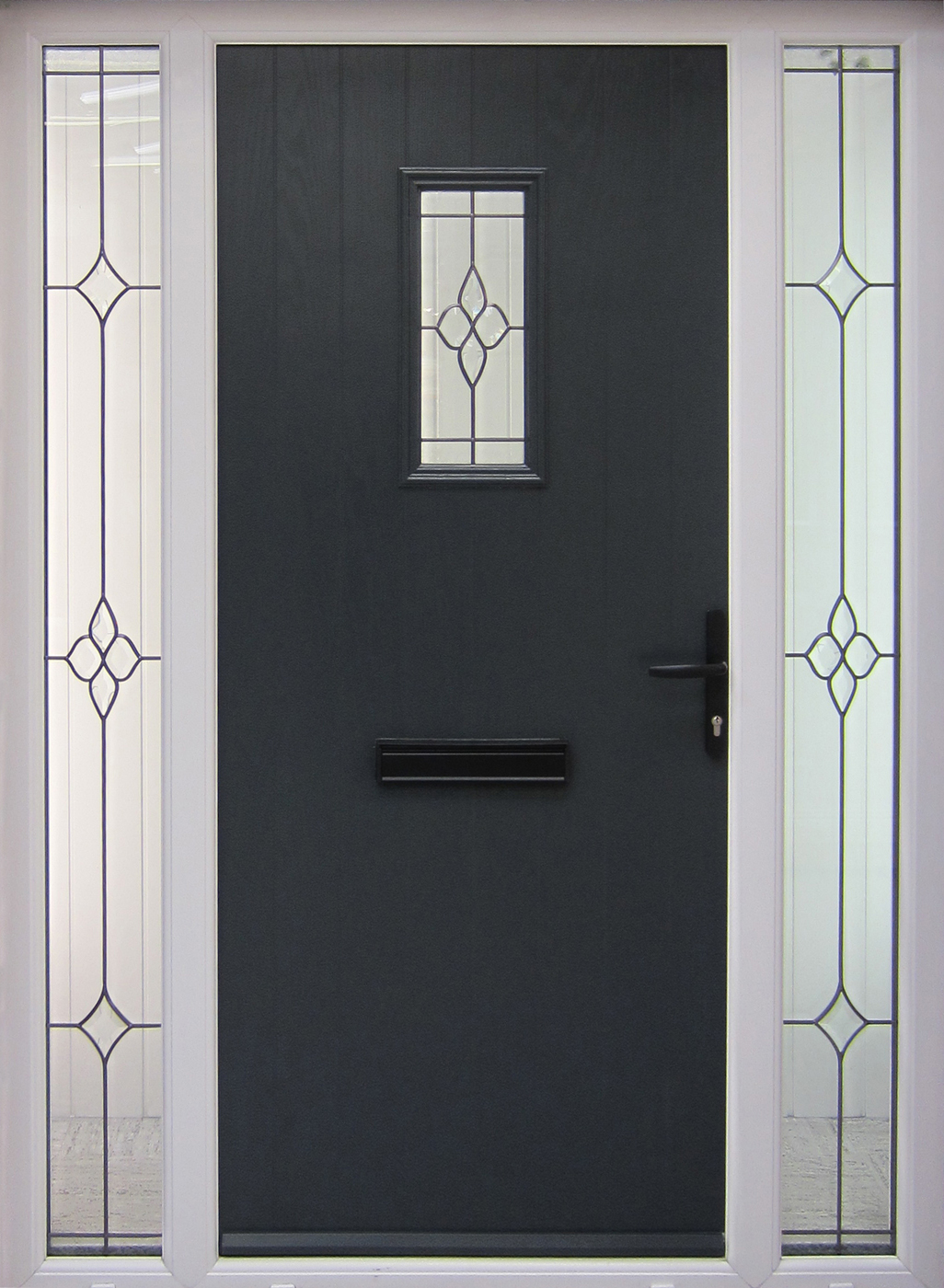 Grp Cottage Anthracite External Front Doors Grp