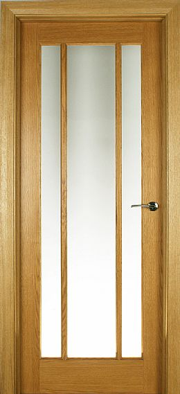 Aspen 3-Lite White Oak Door (40mm)