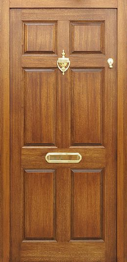 Colonial 44mm External Front Doors Mahogany