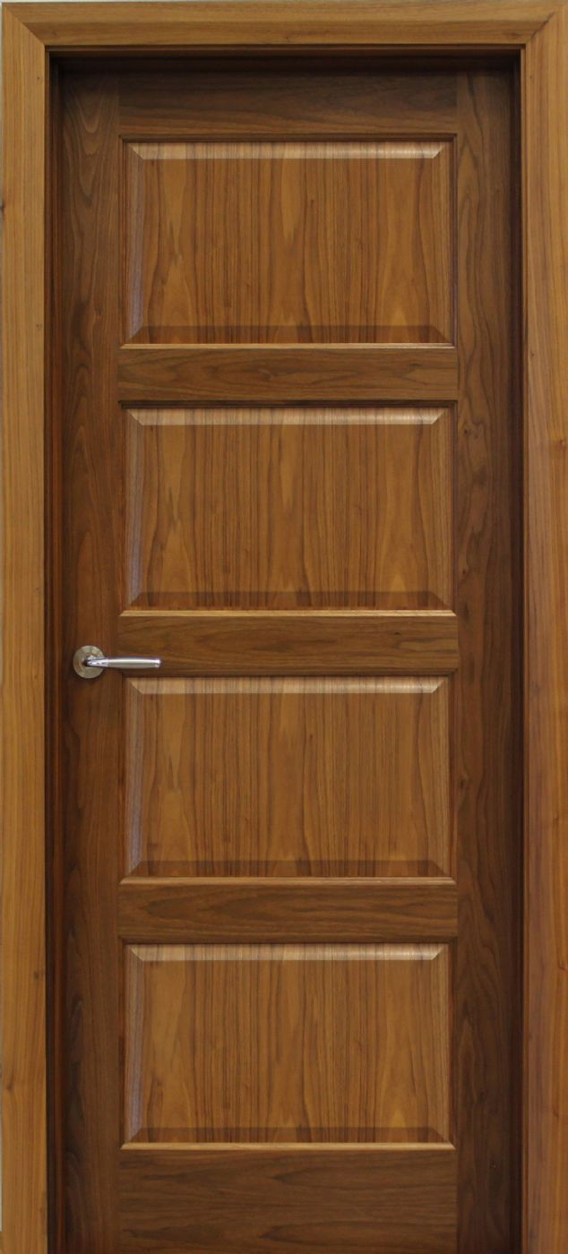 Contemporary 4 panel walnut door 40mm internal doors for Entrance doors
