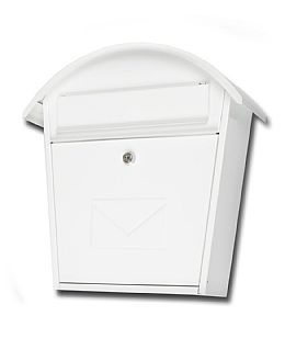 Cottage white mail box