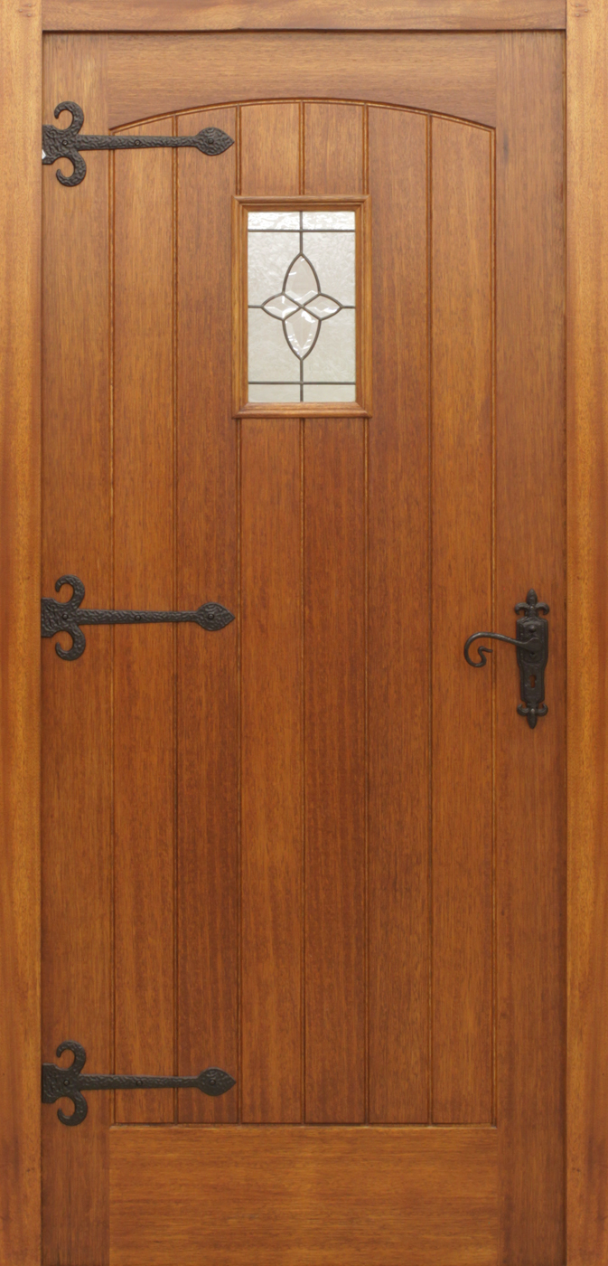 Cottage Pre Glazed 44mm External Front Doors Mahogany