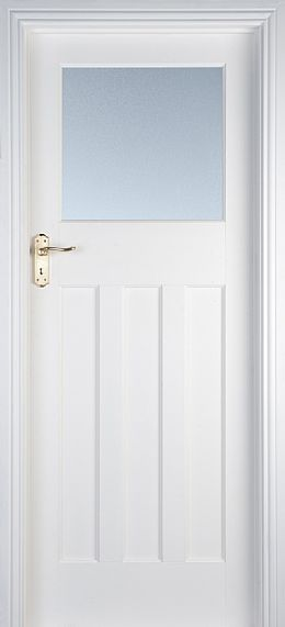 Edwardian 1 Lite White Primed Door (40mm)