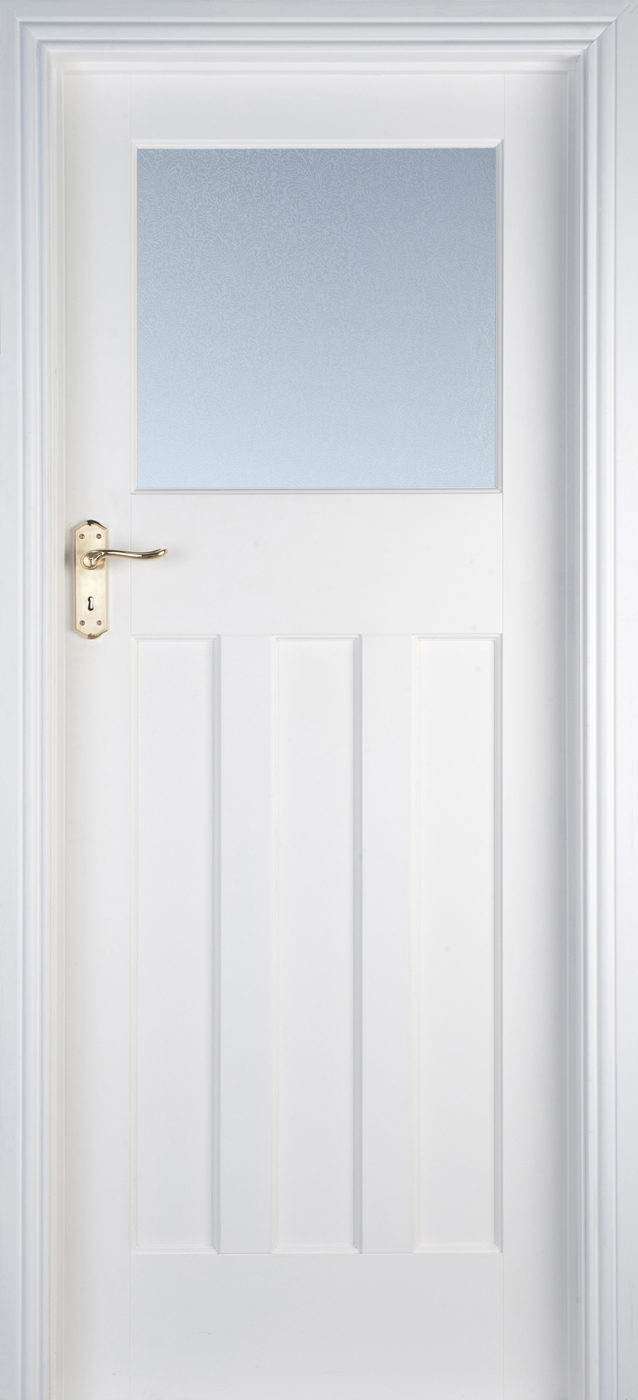 online store d8f02 f29e9 Edwardian 1 Lite White Primed Door (40mm)