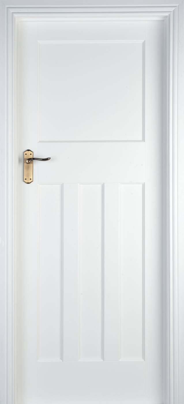 Edwardian White Primed 40mm Internal Doors White