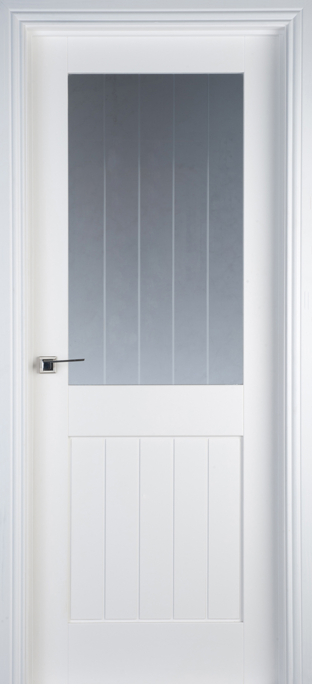 Mexicano 1 Lite Pre Glazed White Primed Door 40mm