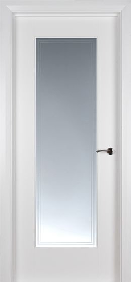Shaker 1 Lite White Primed Pre-Glazed 'Iseo Glass' (40mm)