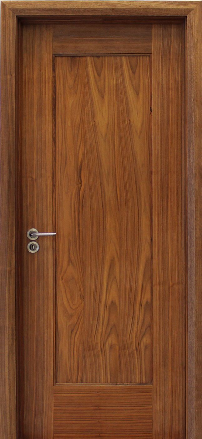 Shaker 1 panel walnut door 40mm internal doors for Internal wooden doors