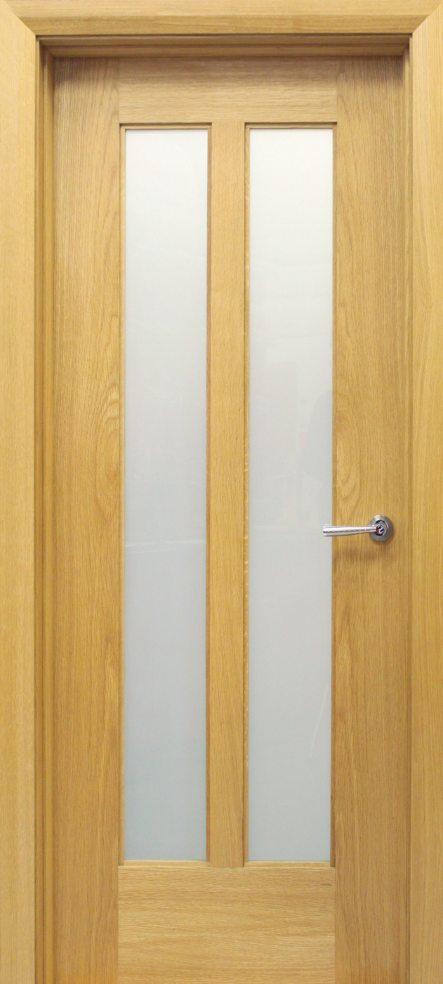 Internal Door Hinges >> Shaker 2 Lite White Oak Door (40mm) | Internal Doors ...