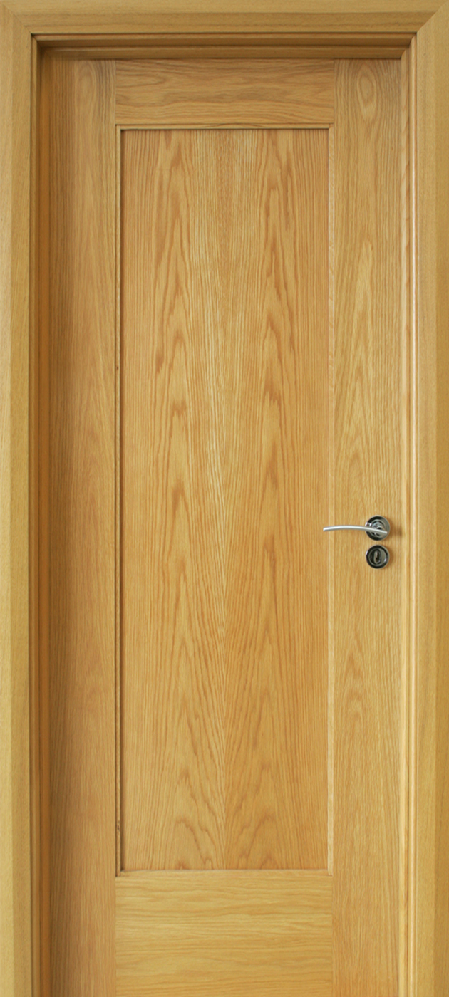 Shaker 1 Panel White Oak Door 40mm Internal Doors Oak Doors