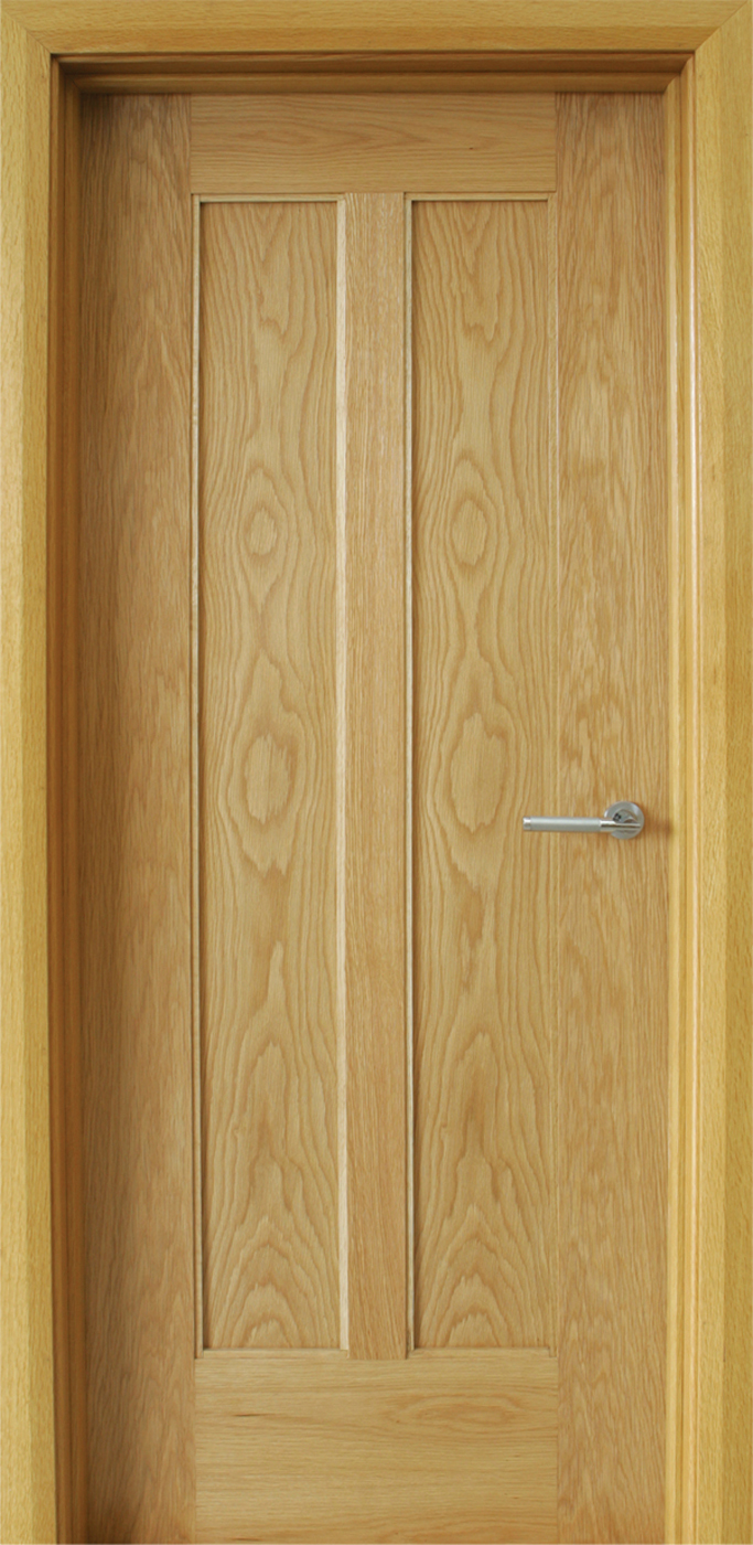 Shaker 2 panel white oak door 40mm internal doors for Doors with panels