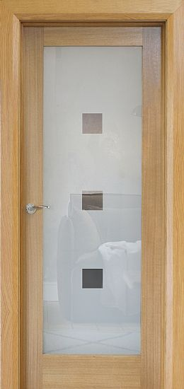 Trade Spec Shaker 1 Lite Pre-Glazed Oak Door (40mm)