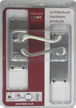 contract satin chrome scroll latch