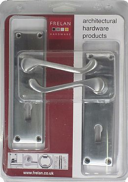 contract satin chrome scroll   lock
