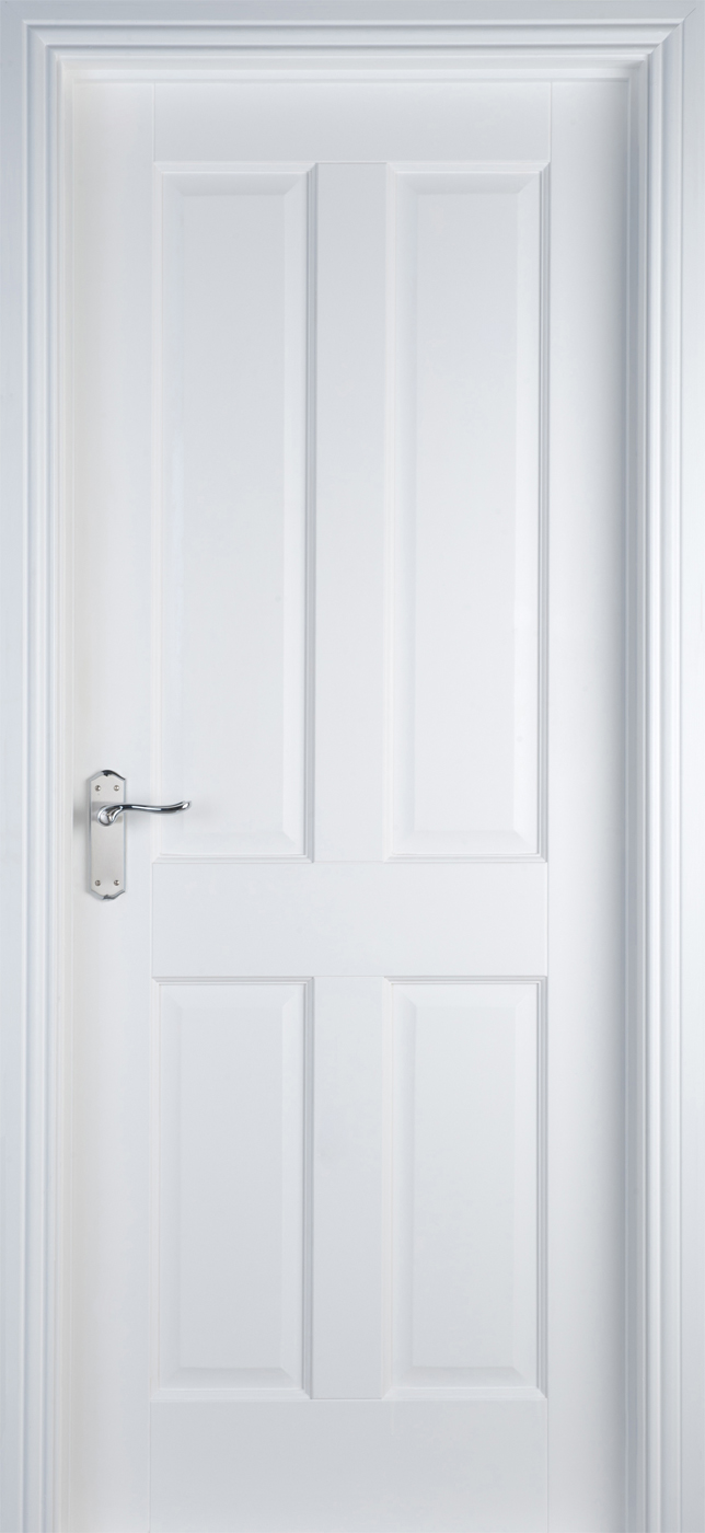 4 Panel White Primed Door 40mm Internal Doors White