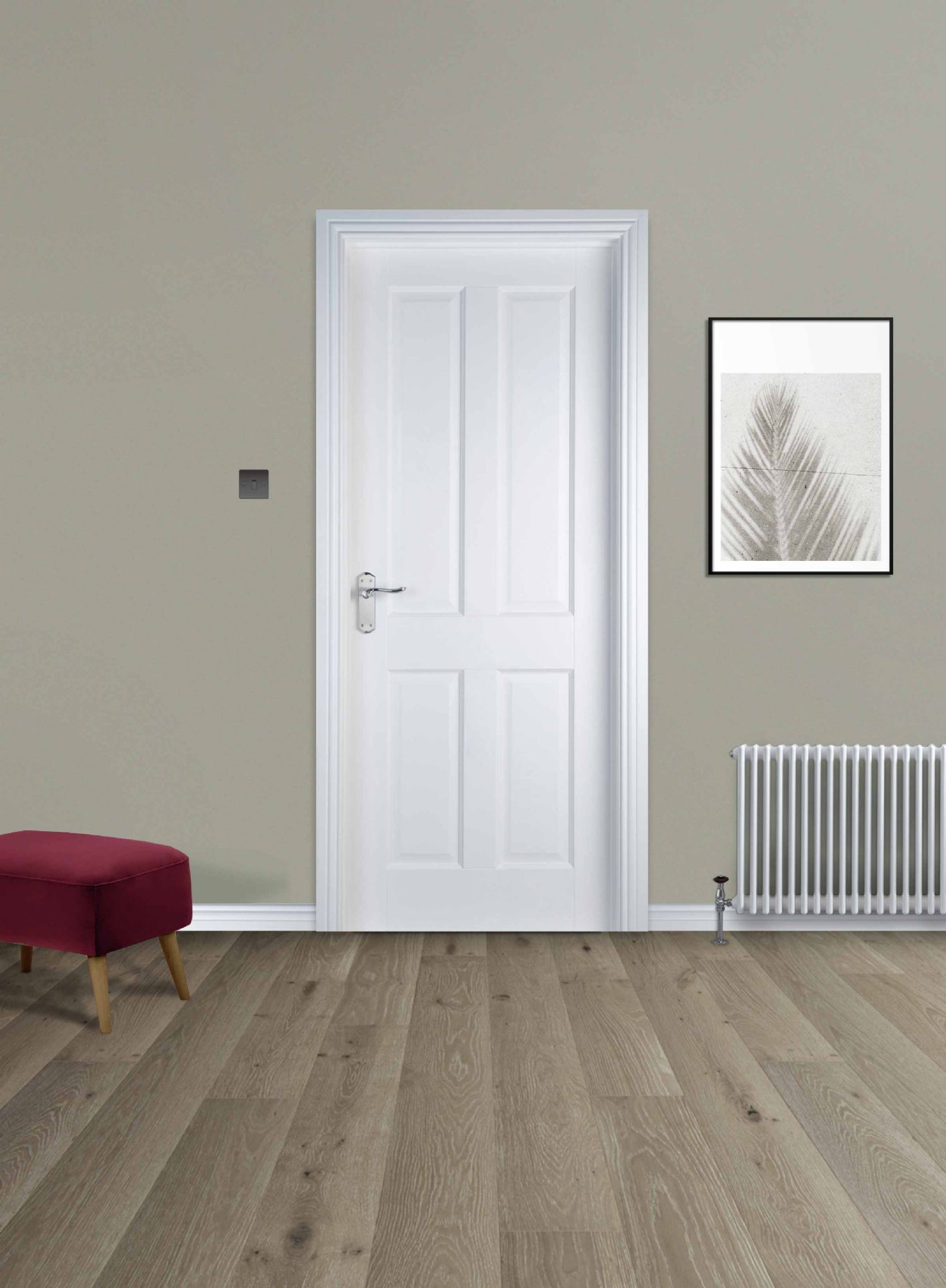 4 Panel White Primed Door (40mm)