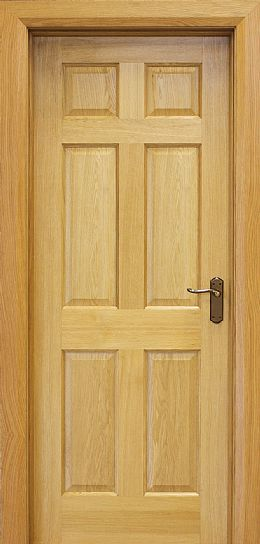 6 Panel White Oak Door (40mm)