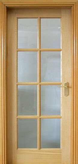 8 Lite Pre-Glazed White Oak Door (40mm)