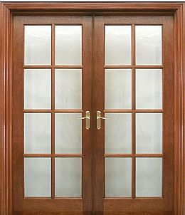 8 Lite Pre-Glazed (40mm) shown as double doors