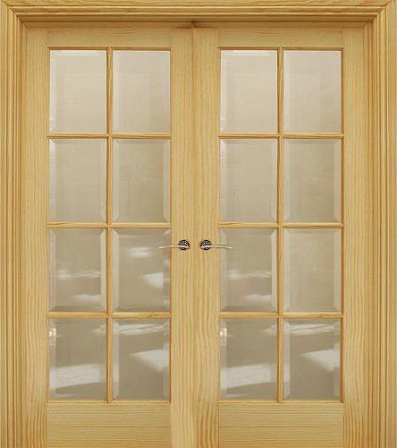 8 Lite Pre Glazed 40mm Shown As Double Doors Internal Doors