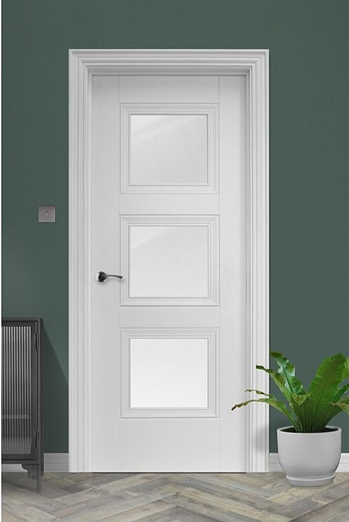 Amsterdam 3-Lite White Primed door (40mm)