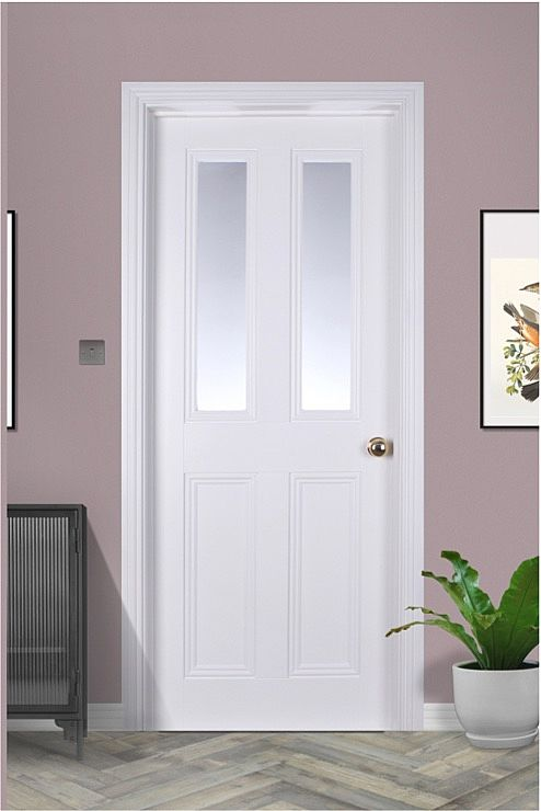 Ardmore 2 Lite White Primed Pre-glazed (40mm)