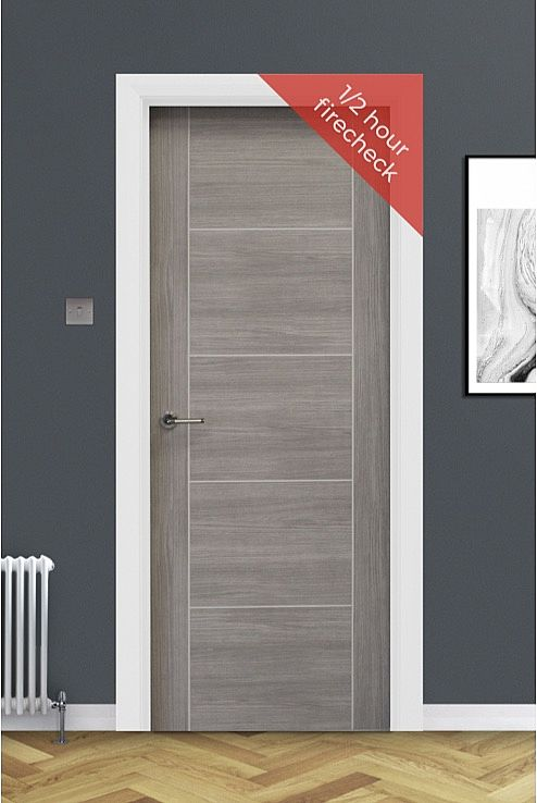 Vancouver Lava Grey Laminate Door 1/2Hr FC