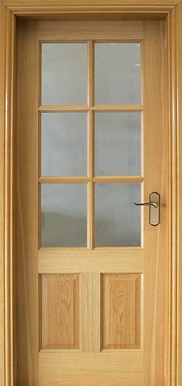 Cambridge Pre-Glazed White Oak Door (40mm)