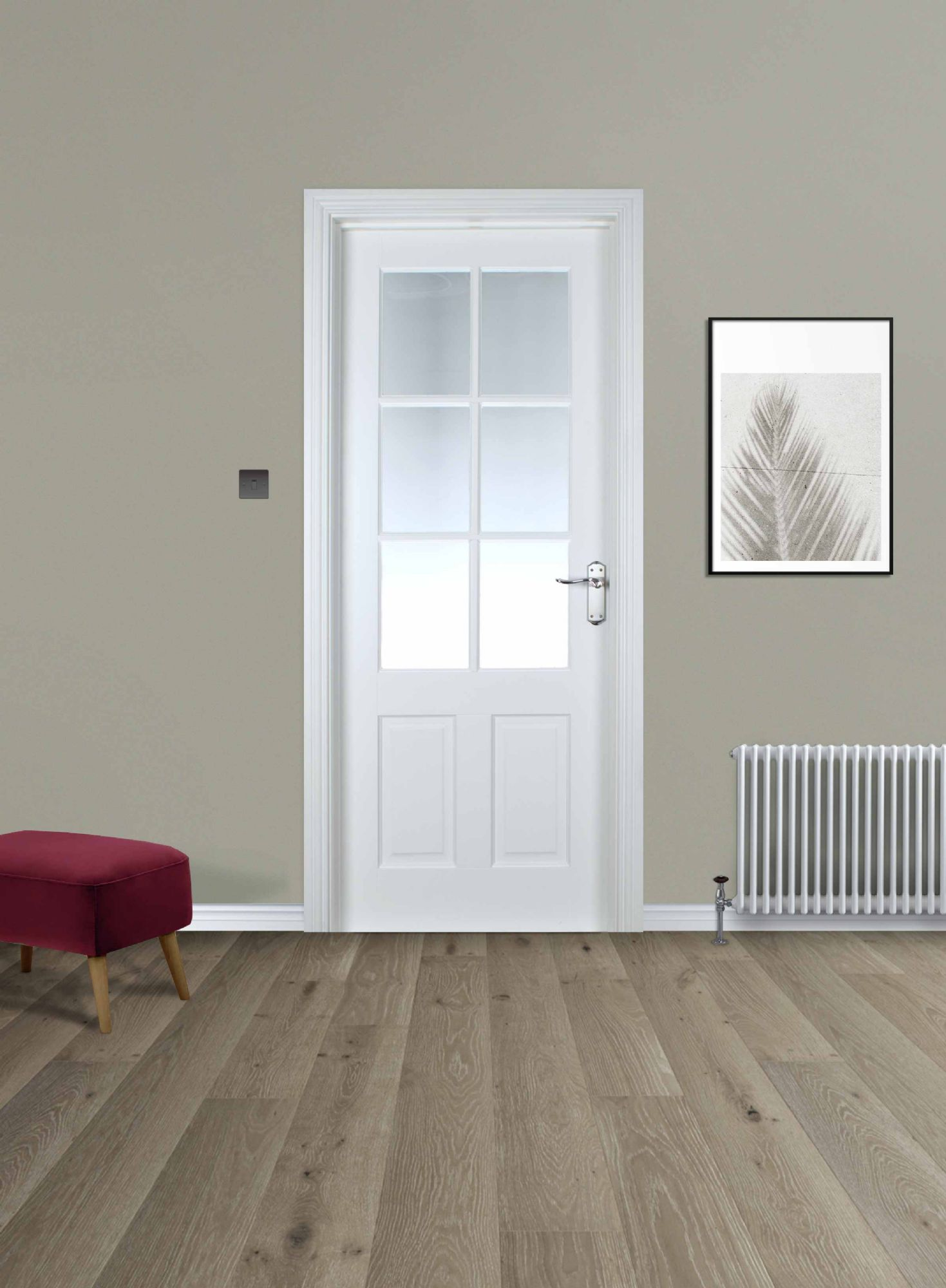 Cambridge 6 Lite White Primed Pre-glazed (40mm)