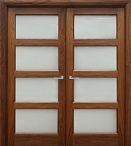 Contemporary 4 Lite (40mm) shown as double doors