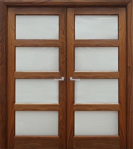 Contemporary 4 Lite 40mm Shown As Double Doors