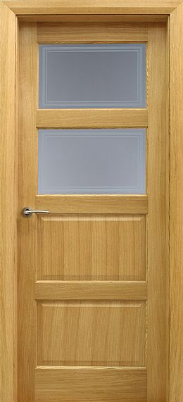 Contemporary 2 Lite White Oak Door