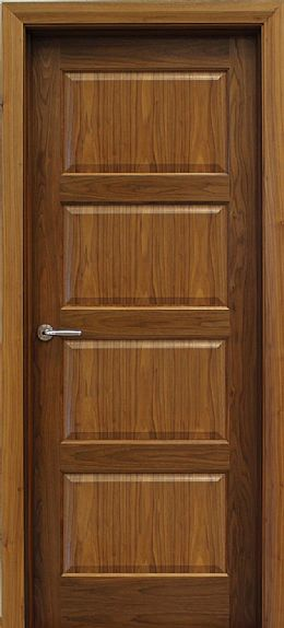 Contemporary 4 Panel Walnut Door (40mm)