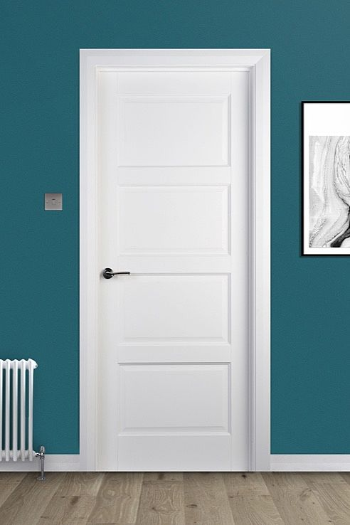 Contemporary 4 Panel White Primed Door (40mm)