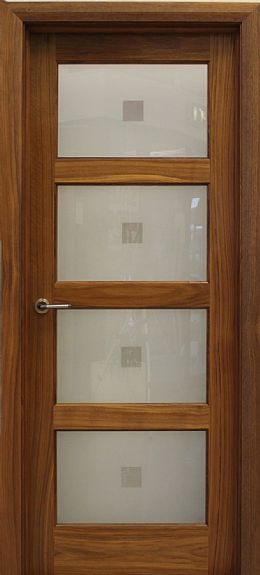 Contemporary 4 Lite Walnut Door (40mm)