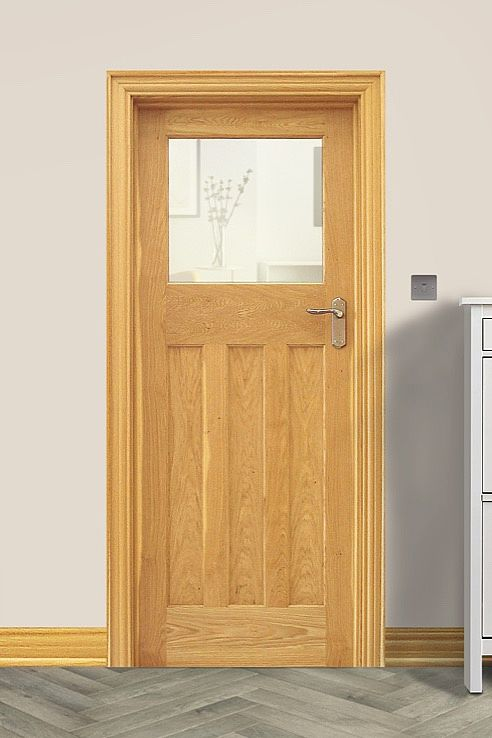 Edwardian 1 Lite Rustic Oak Door (40mm)