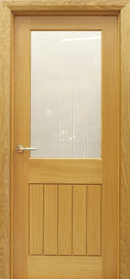 Mexicano 1 Lite A-Grade White Oak Door (40mm)