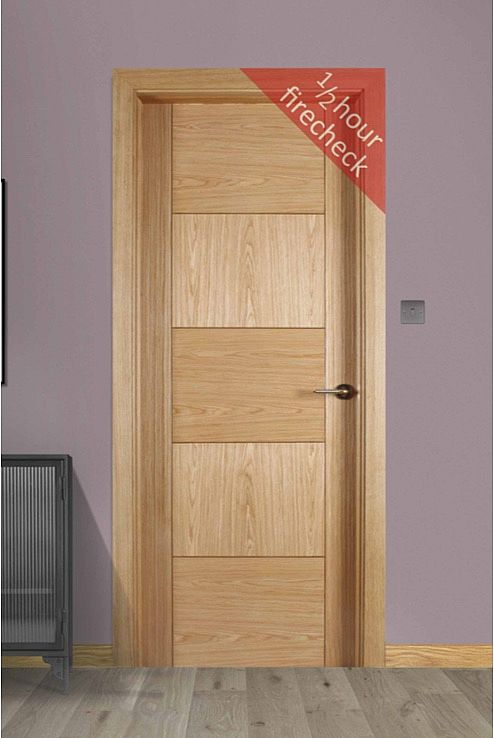 Monza White Oak Fire Check Door (44mm)
