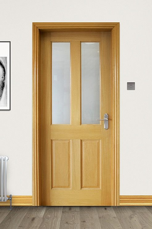 Oxford Pre-Glazed White Oak Door (40mm)