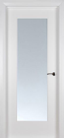 Shaker 1 Lite White Primed Pre-Glazed 'Clear Glass' (40mm)