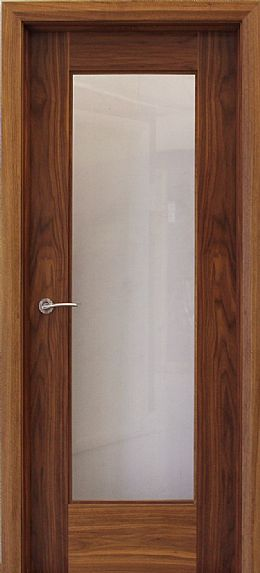Shaker 1 Lite Walnut Door (40mm)