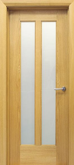 Shaker 2 Lite White Oak Door (40mm)