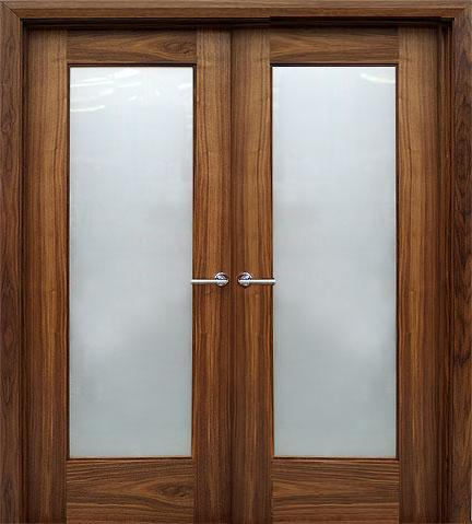 Double Oak Glass Internal Doors