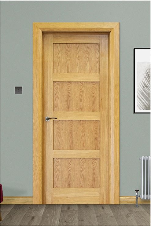 Trade Spec Contemporary 4 Panel Oak Door (40mm)